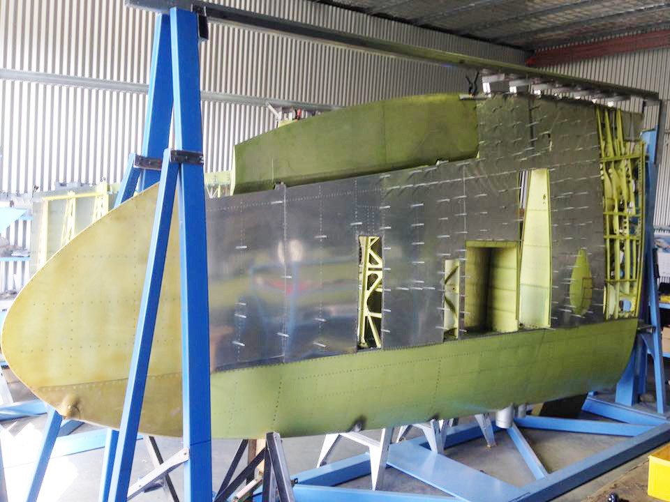 Skins being fabricated. Note temporary shorter MKVIII aileron