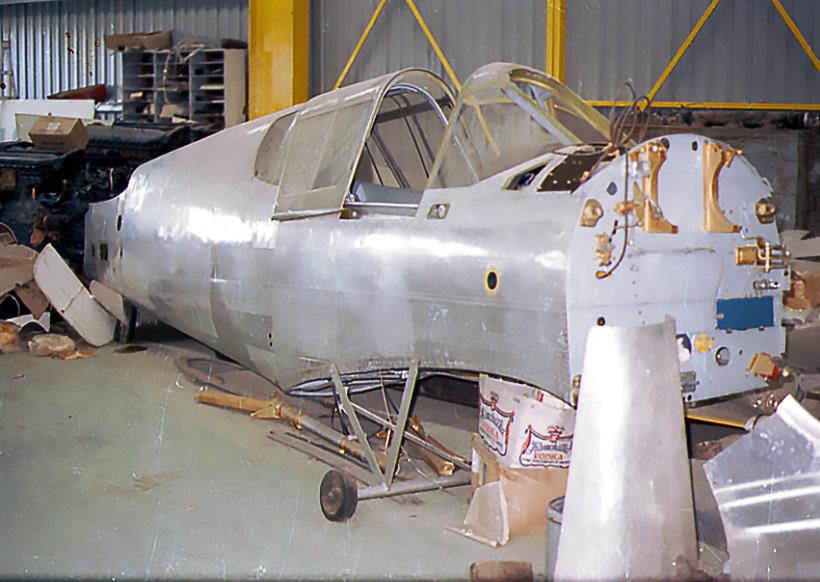 Fuselage awaiting restoration.