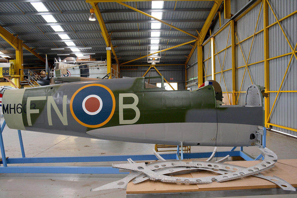 MH603 fuselage with new paint and markings