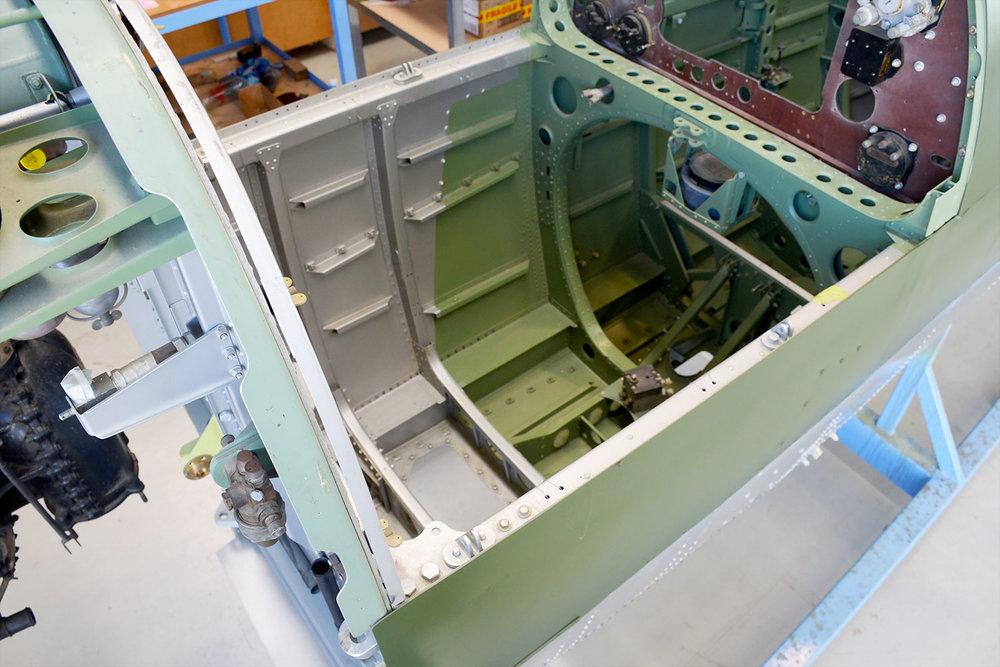MH603 cockpit awaiting fitout