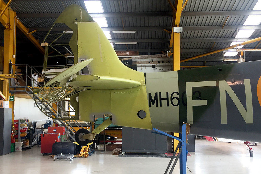 MH603 empenage is trial fitted