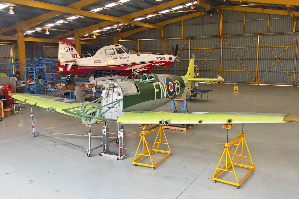 MH603 wings & empenage trial fitted