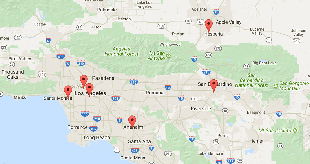 Six new Athena ATMs in and around Los Angeles, Anaheim, San Bernadino, and Hesperia!