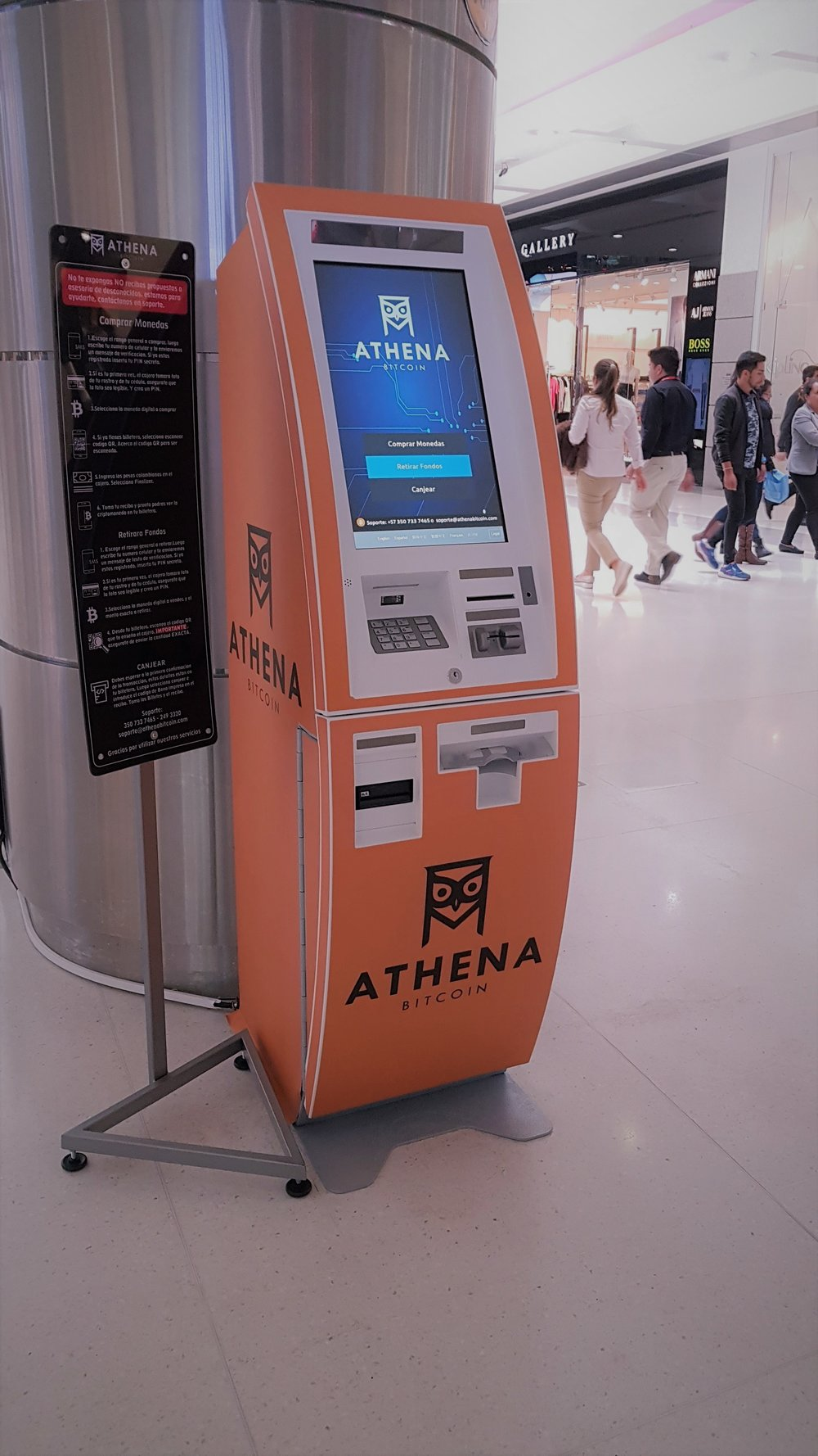 Athena ATM at the Gran Estación shopping center in Bogota