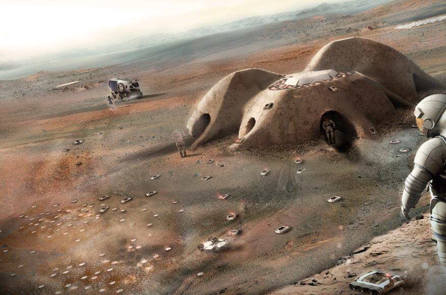 The autonomous multi-robot regolith system.  Source