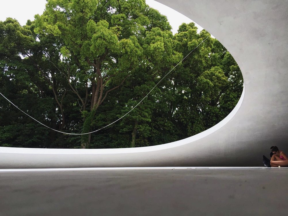 The opening which frames the outside nature