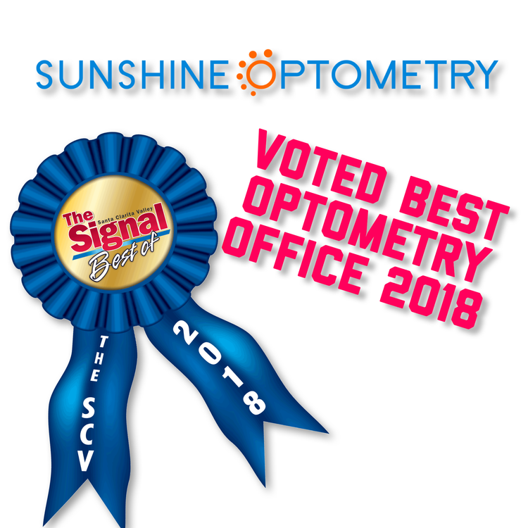 The Santa Clarita Valley Signal has voted Sunshine Optometry the Best Optometry Office in 2018. Come visit us to see why at your next eye exam.  Read more here.