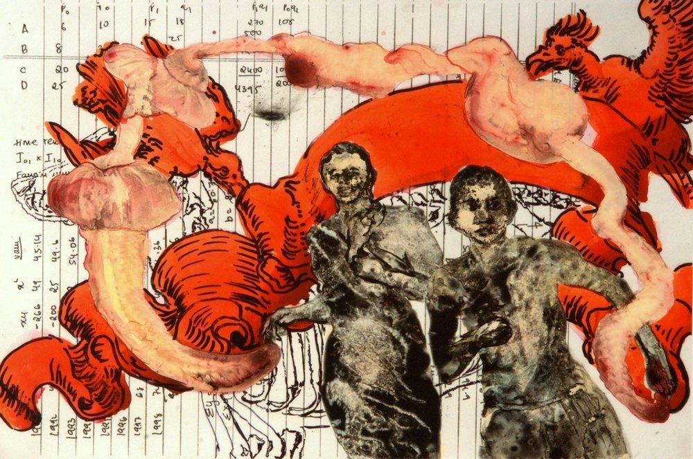 Nalini Malani,  Childhood fears , 2009, Numerical pigmentary print, 54.6 cm x 76 cm