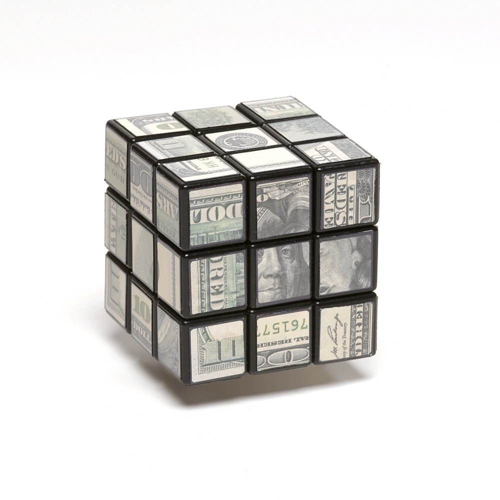 "John Ilg, Job Search, Archival digital prints on Rubix's Cube, 2.25"" cube, 2012"