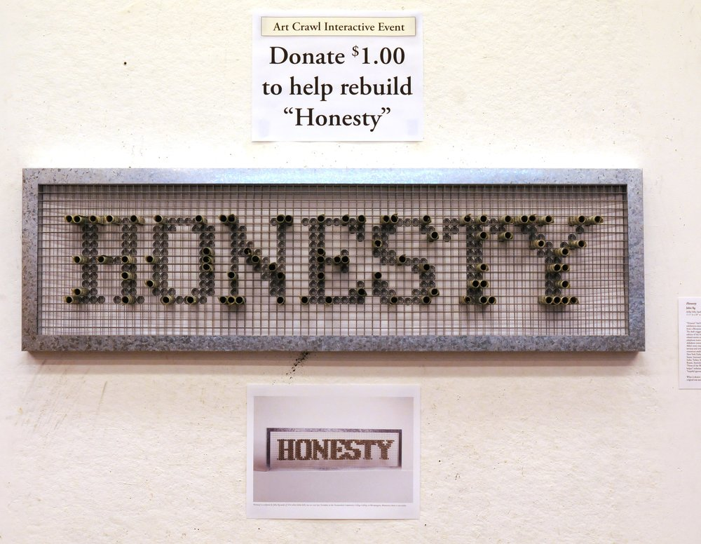 Rebuild Honesty Project in the artist's studio during the St. Paul Art Crawl