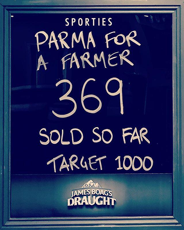 Big week of Parma's @sporties_launceston #parmaforafarmer #parmas #launcestoneats #launcestonbars #buyabale