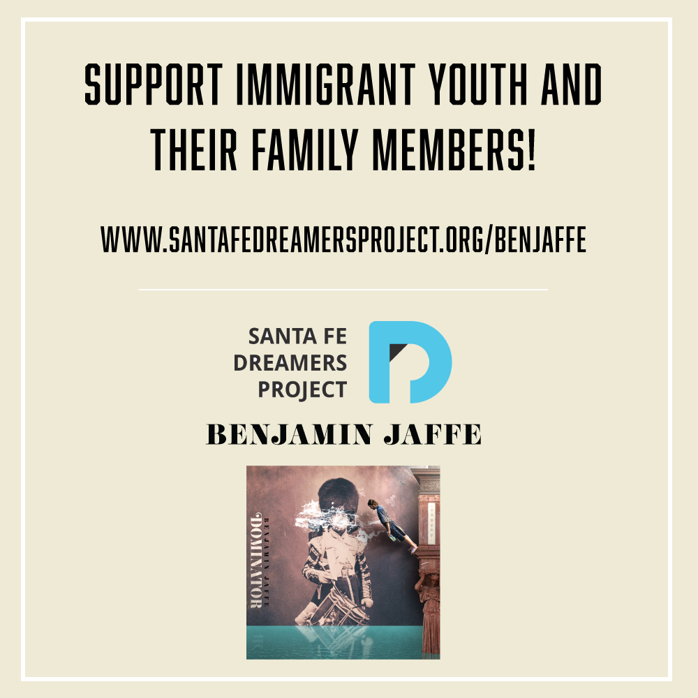 "Donate to the Santa Fe Dreamers Project and receive a complimentary download of my new single ""Dominator""  Learn more at santafedreamersproject.org"