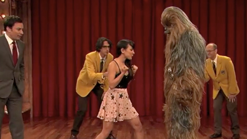 Miki Punching a Wookie on Jimmy Fallon