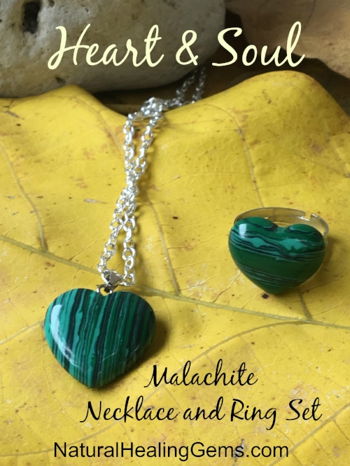 "Gemstone Necklace and Ring sets ""Heart and Soul"""