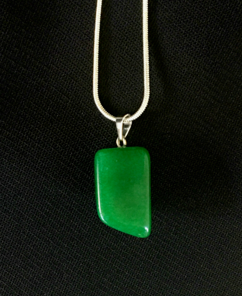 Jade  natural cut pendant