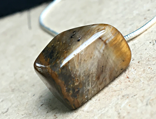 Tigers Eye  pillar pendant