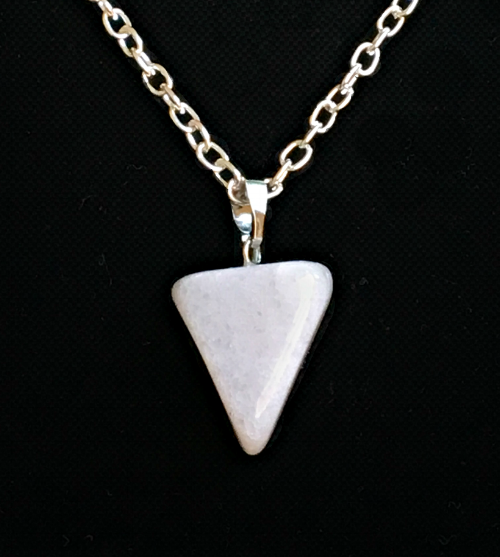 White Aventurine  natural cut pendant