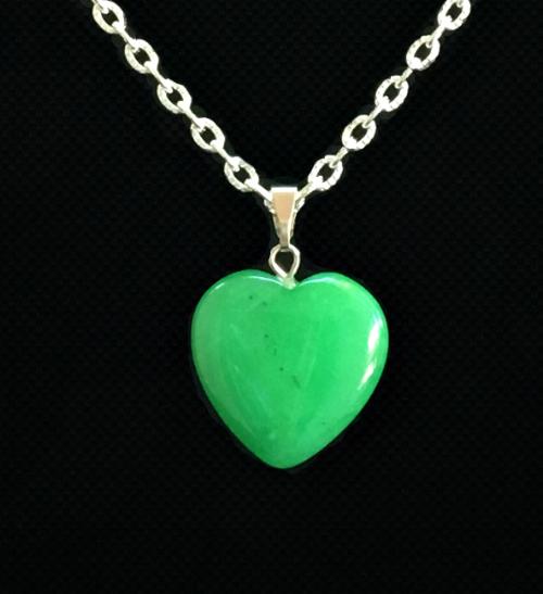 Chrysoprase  heart pendant