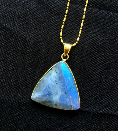 Labradorite  triangular pendant