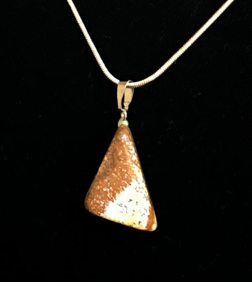 Picture Jasper  natural cut pendant