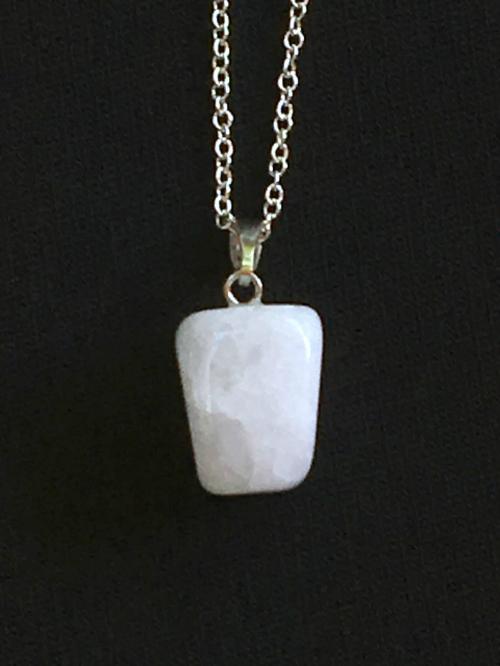 Crackle Agate natural cut pendant