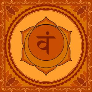 "Svadhisthana Chakra  Mantra: ""Vam""  Color: Orange"