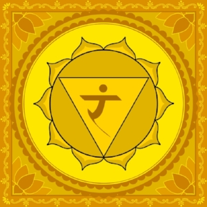 "Manipura Chakra  Mantra: ""Ram"" or ""Aum""  Color: Yellow"