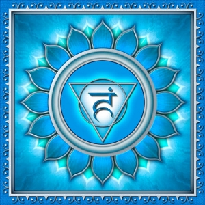 "Visuddha Chakra  Mantra: ""Lam""  Color: Blue"