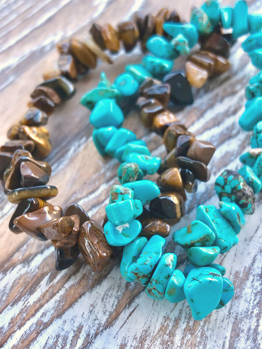 tiger eye and turquoise chip bracelet 2.jpg