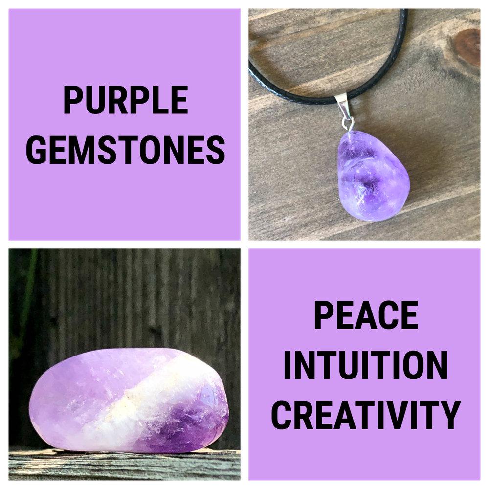 purple gemstones