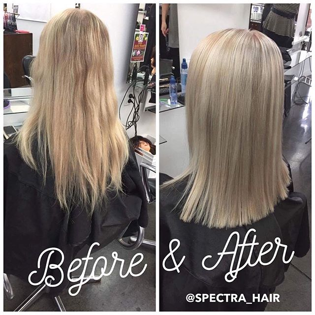 Alex has the gift of sending beautiful blondes out in to the world so effortlessly! ✨ . . #hairstylist #spectrahair2017 #palmerstonnorthhairdresser #palmerstonnorth #spectrahairpn #blondes #blond #blonde #beaitifulhair #greathairalways #beforeandafter #before&after #hair #womenshaircut