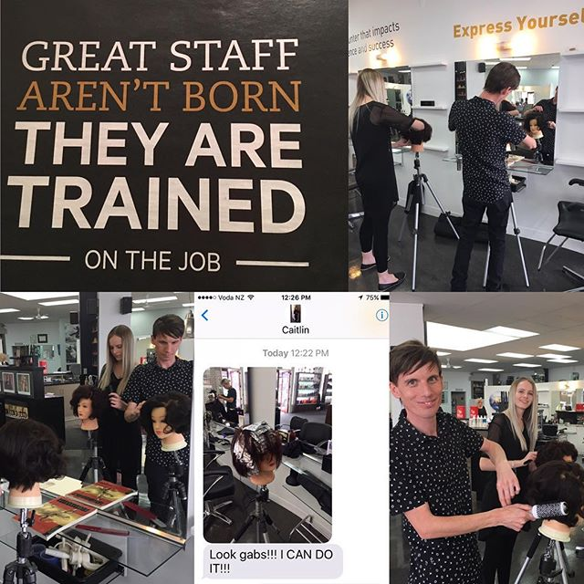 """Great staff aren't born, they are trained ON THE JOB"" 🙌🏻 Yes! Yes! Yes! It's in our DNA at Spectra ~ education is the key! 🗝  #education #alwayslearning #stylist #spectrahair2017 #palmerstonnorth #spectrahairpn #hairstylist #lovehair #palmerstonnorthhairdresser #intraining #learn #hairdresser #greathair"