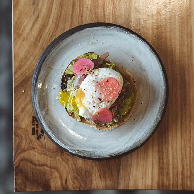 The masterpiece~ an elegant twist on avocado toast with prosciutto, poached egg, pickled radishes (soooo good), seasoning, and a little fresh parmesan. Literally the perfect healthy, filling meal! . . . . . #onmytable #travelok #huffposttaste #okc #oklahomacity #flatlay #coffeebeans #oklahomalife #igersoklahoma #tastingtable #lifeandthyme  #foodbeast #coffeetime #dailyfoodfeed #handsinframe #eatfamous #oklahomasky #stilllife #focalmarked #nothingisordinary #feedfeed #eeeeeats  #f52grams  #onthetable #liveauthentic #seekthesimplicity #tastespotting #vscocoffee #coffeebreak #coffeegram