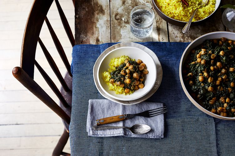 Spicy, Creamy Chickpeas & Spinach (Chana Saag-ish)  (Julia Gartland - Food52)