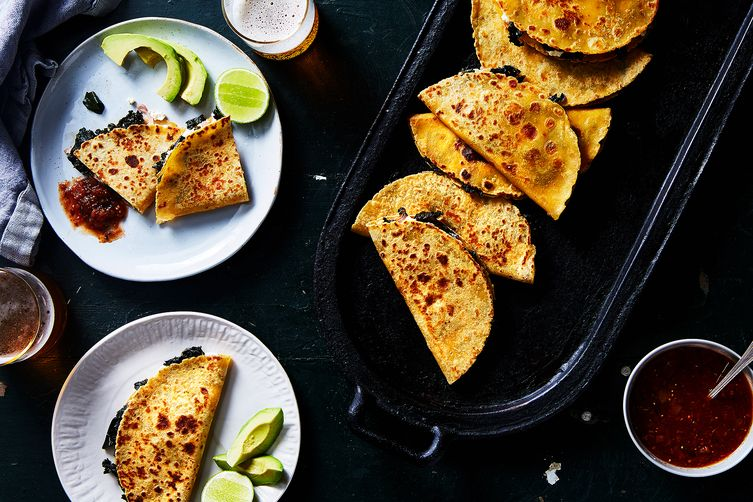 Greens-Stuffed, Cheese-Stuffed Quesadilla  (Julia Gartland - Food52)