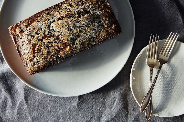 Black Sesame Banana Cake with Peanut Butter  (James Ransom - Food52)