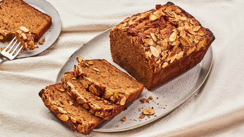 Almond Butter and Jam Quick Bread  (Chelsea Kyle - Bon Appétit)