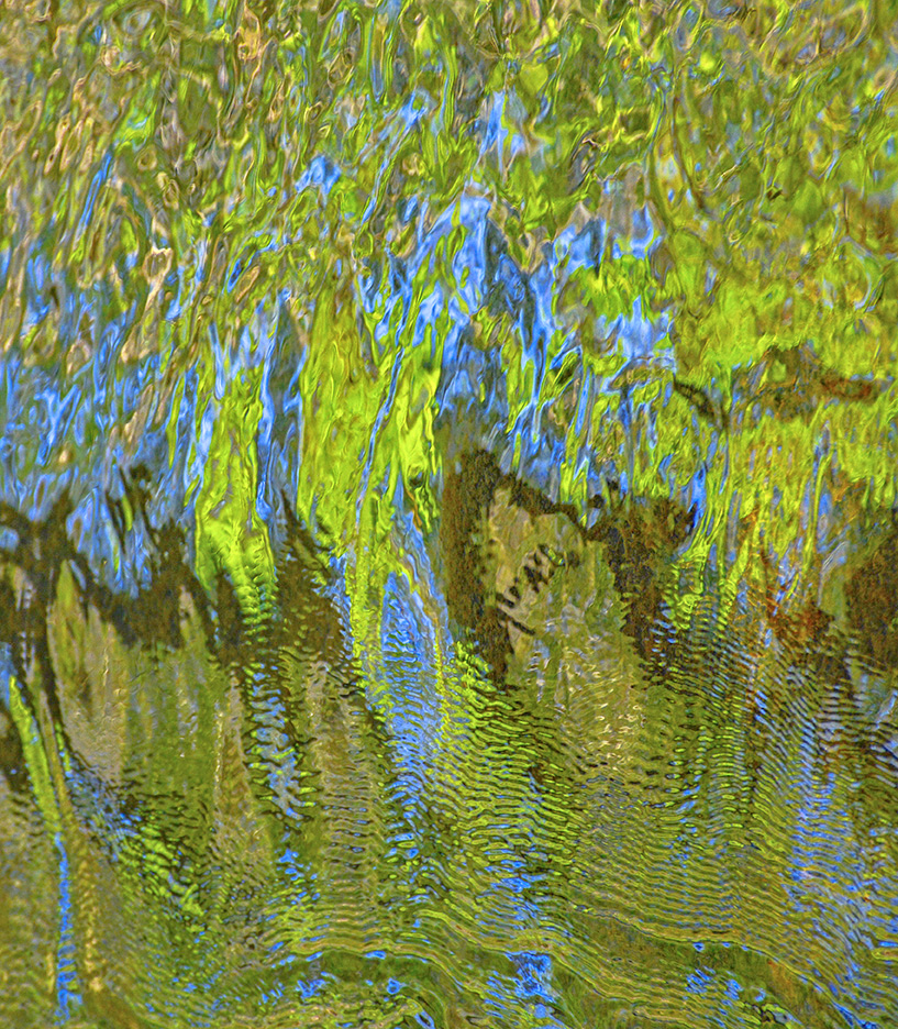 Abstract Lake Reflection