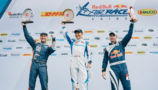 "Yoshihide ""Yoshi"" Muroya won the last two Red Bull Air Race competitions of the season to become Masters Class World Champion.  Red Bull Air Race"