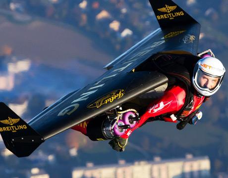"Yves ""Jetman"" Rossy. Image: Breitling / Jetman.com"