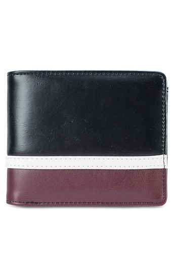 ZALORA<br>Striped Base Zip-Coin Bi-Fold Wallet