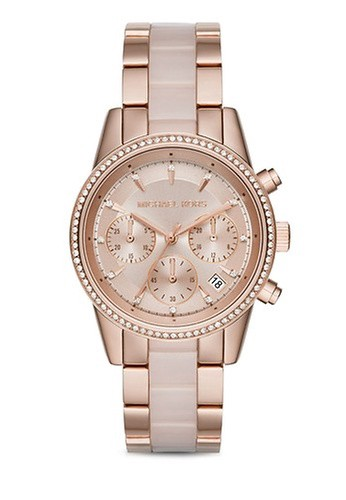MICHAEL KORS gold Rose Gold/ Gunmetal Grey /Rose-MICHAEL KORS Ritz