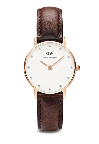 Daniel Wellington brown Classy Bristol Watch