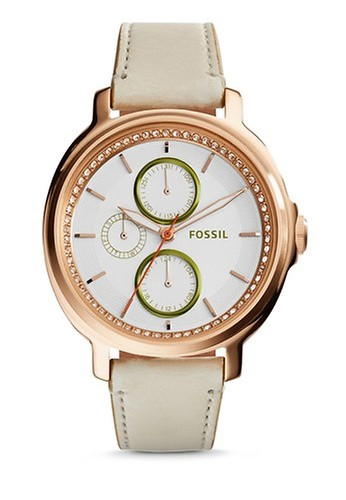 Fossil silver and brown Light Brown/Silver-Fossil Chelsey