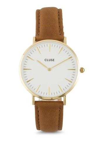 CLUSE La Bohème Gold White/Caramel Watch