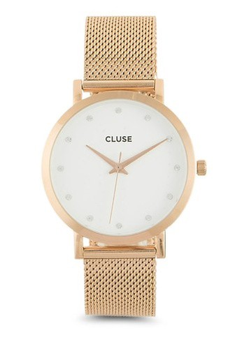 CLUSE gold Pavane Rose Gold Stones Watch