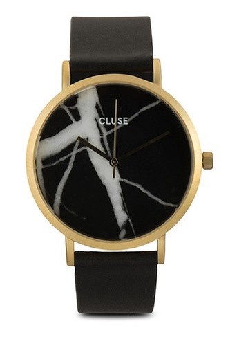 CLUSE black and gold La Roche Gold Black Marble/Black Watch