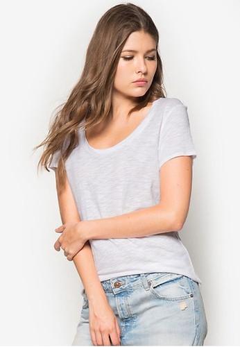 Mango white Flecked Cotton-Blend T-Shirt