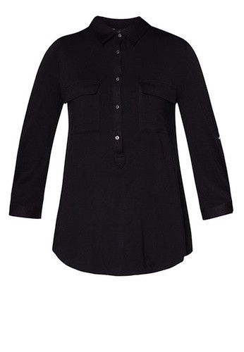 Dorothy Perkins Black Button Front Shirt