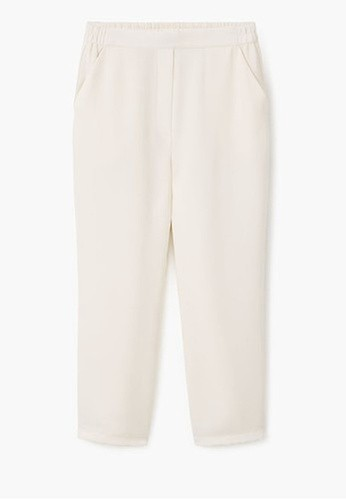 Mango Straight-Cut Crop Trousers
